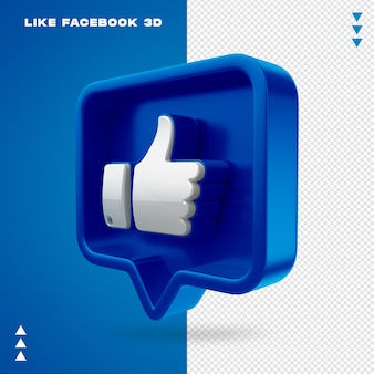 Like facebook 3d isolated