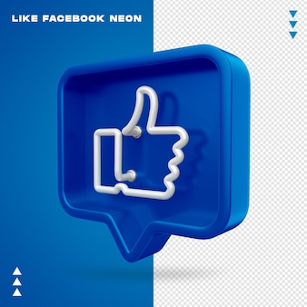 Like facebook neon isolated