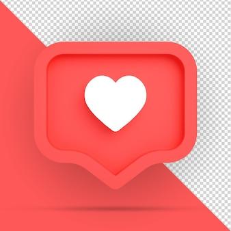 Like instagram icon isolated design