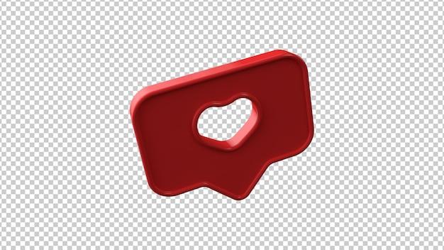 透明な背景のシンボルのように。 3dイラスト。