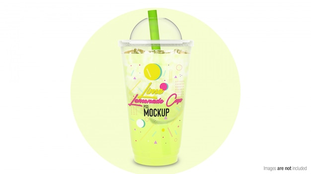 Lime lemonade in plastic container