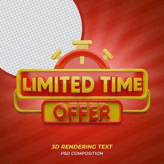 Limited time offer 3d