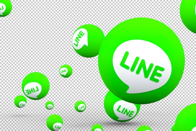Line app reactions call with isolated background