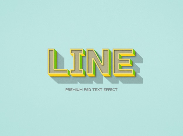 Line text effect template with linear pattern