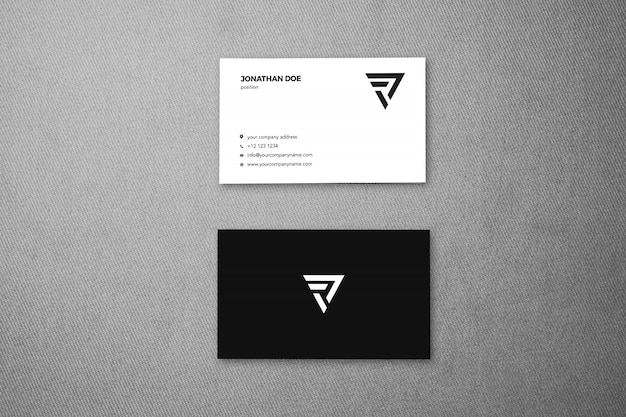 Linen fabric surface vertical businesscard mockup