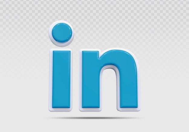 Linkedin 3d 아이콘 렌더링 개념 크리에이 티브