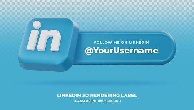 Linkedin 3d-рендеринга баннер изолированные