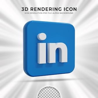 Linkedin glossy logo and social media icons