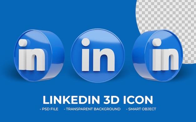 Linkedin 로고 소셜 미디어 3d 아이콘
