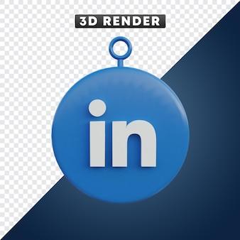 Linkedin 소셜 미디어 아이콘 3d 개체