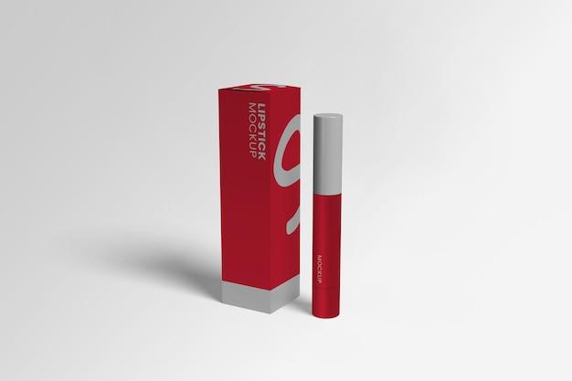 分離された口紅ボックスのモックアップ