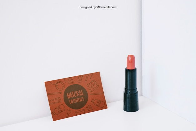 Lipstick and card