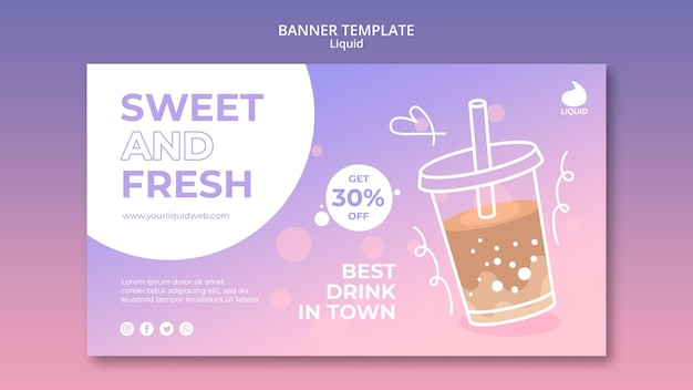 Liquid banner template