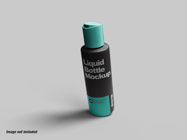 Бутылка с жидкостью для мыла или макета косметики