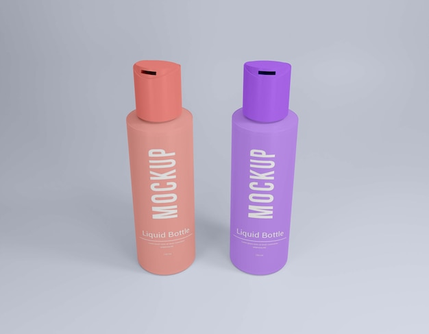 Liquid bottle psd mockup