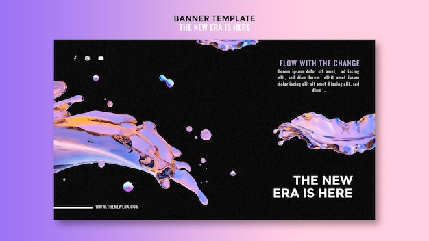 Liquid design banner template