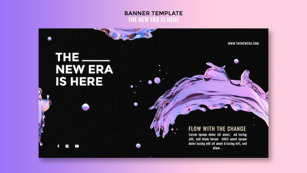Liquid design template banner