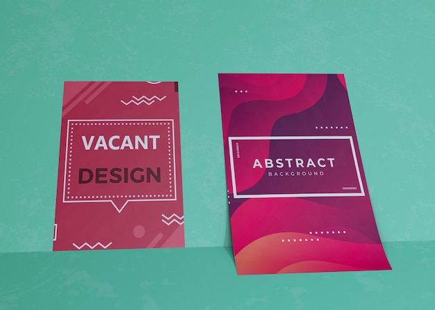 Liquid effect on brand company business mock-up paper