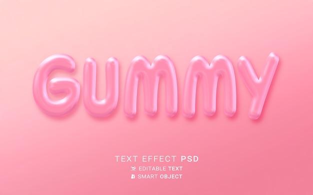 Liquid food text effect