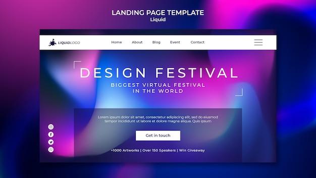 Liquid landing page