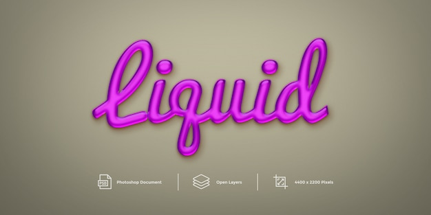 Liquid text effect design  layer style