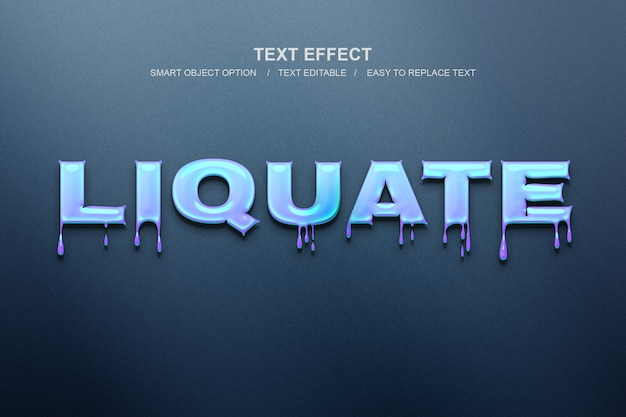 Liquid text effect