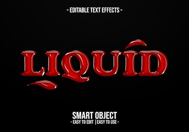 Liquid text style effect