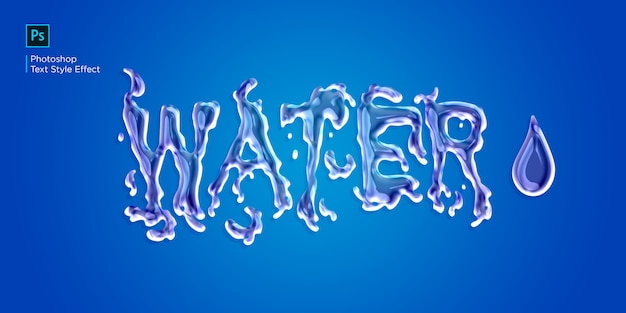Liquid water text effect