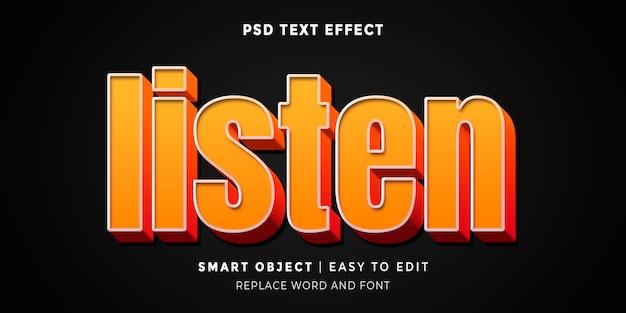Слушайте редактируемый текстовый эффект в стиле 3d