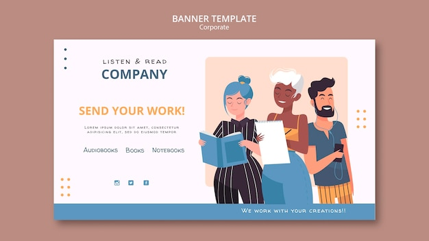 Listen and read corporate banner