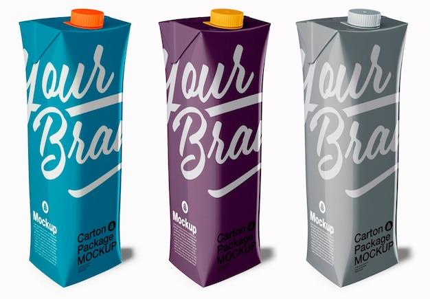 Liter carton mockup design isolated