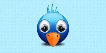 Little twitter birdie icon