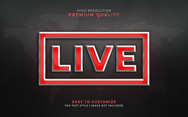 Live 3d текстовый стиль эффект макет