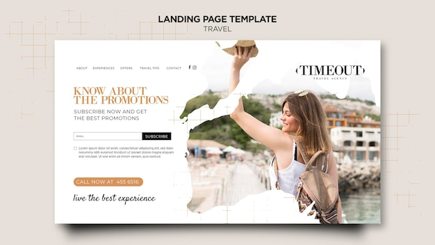 Live the best experience landing page template