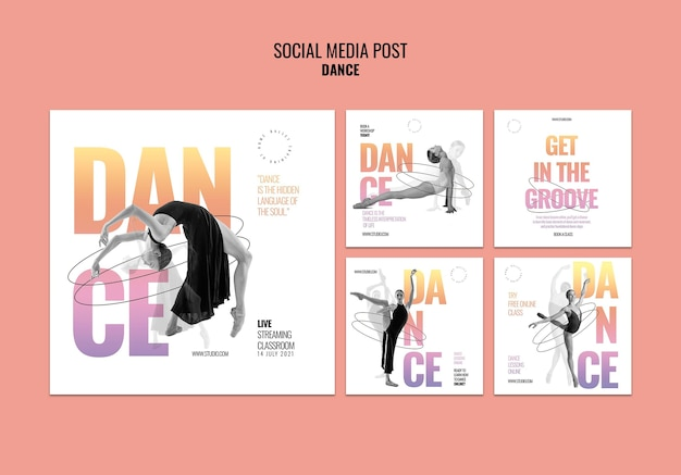 Live dance social media post template