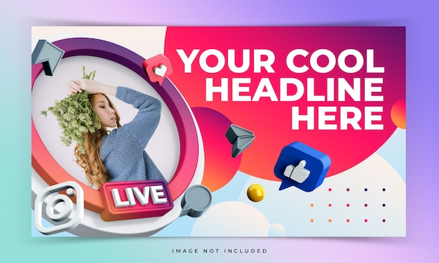 Live event youtube video thumbnail template