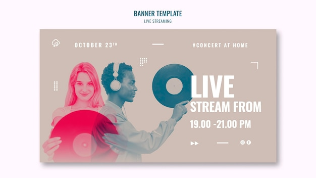 Banner di streaming di musica dal vivo