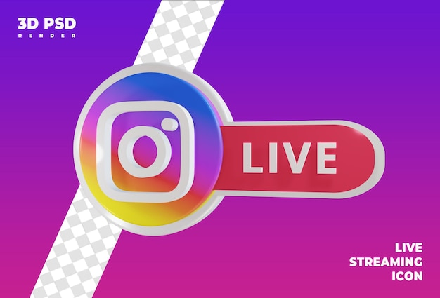 Live streaming render icon badge isolated