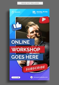 Live streaming workshop instagram story template