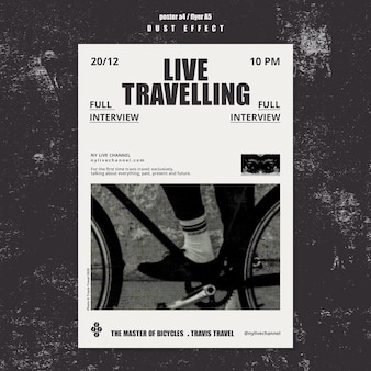 Live travelling flyer template