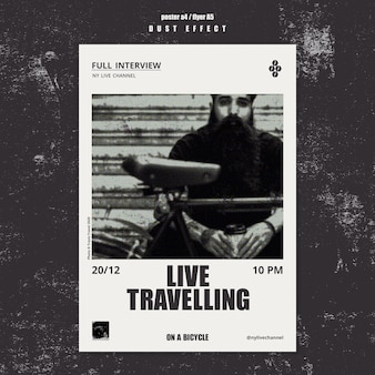 Live travelling poster template
