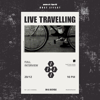Live travelling template poster