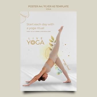 Modello di poster per eventi di yoga dal vivo