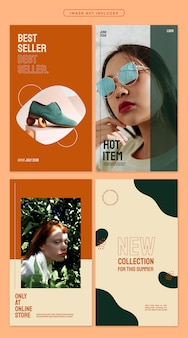 Lively apricot social media post templates