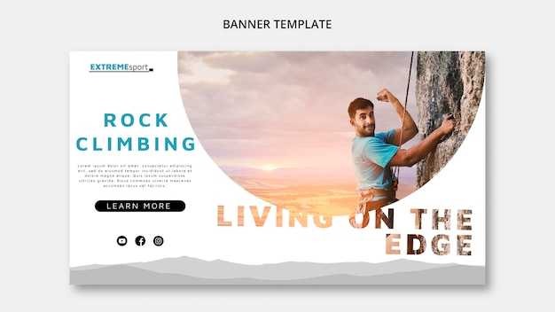 Living on the edge banner template