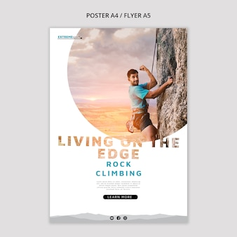 Living on the edge poster template