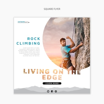 Living on the edge square flyer template