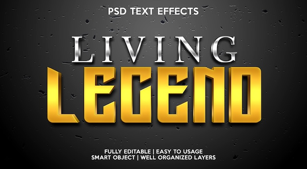 Living legend text effect template