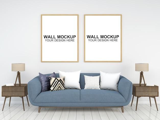 Living room interior house  mockup floor furniture background