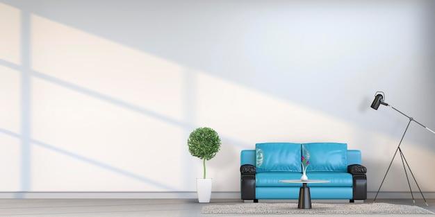 ソファと装飾が施されたモダンなスタイルのリビングルームのインテリア。